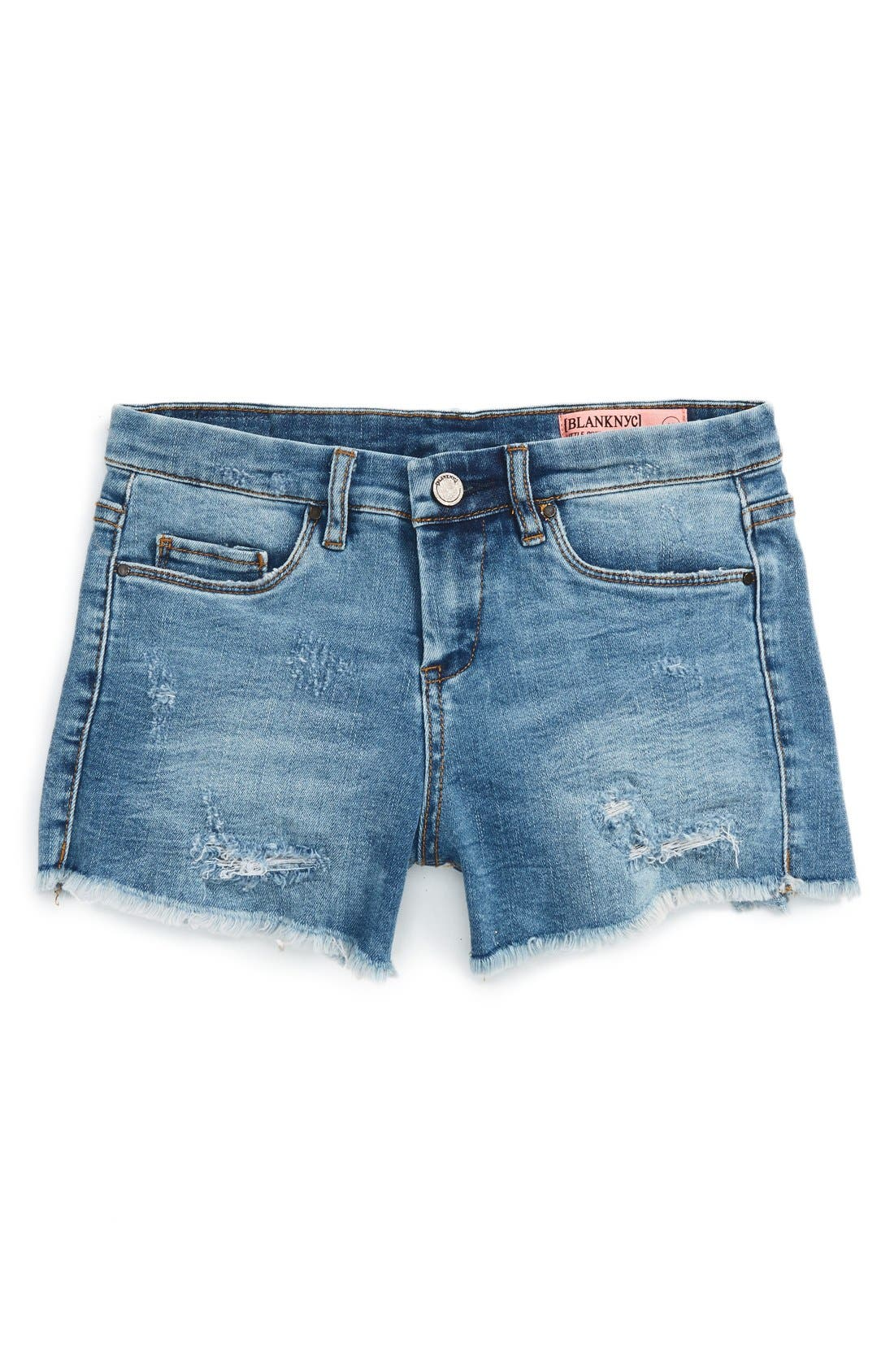 Alternate Image 1 Selected - BLANKNYC Cutoff Denim Shorts (Big Girls)