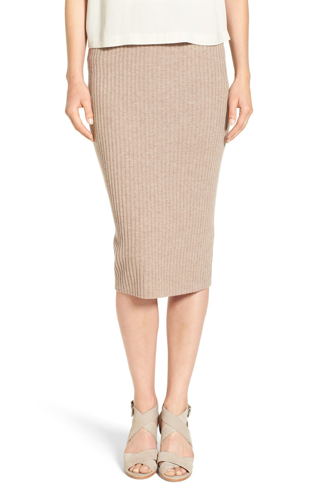 eileen fisher ribbed wool knit pencil skirt nordstrom