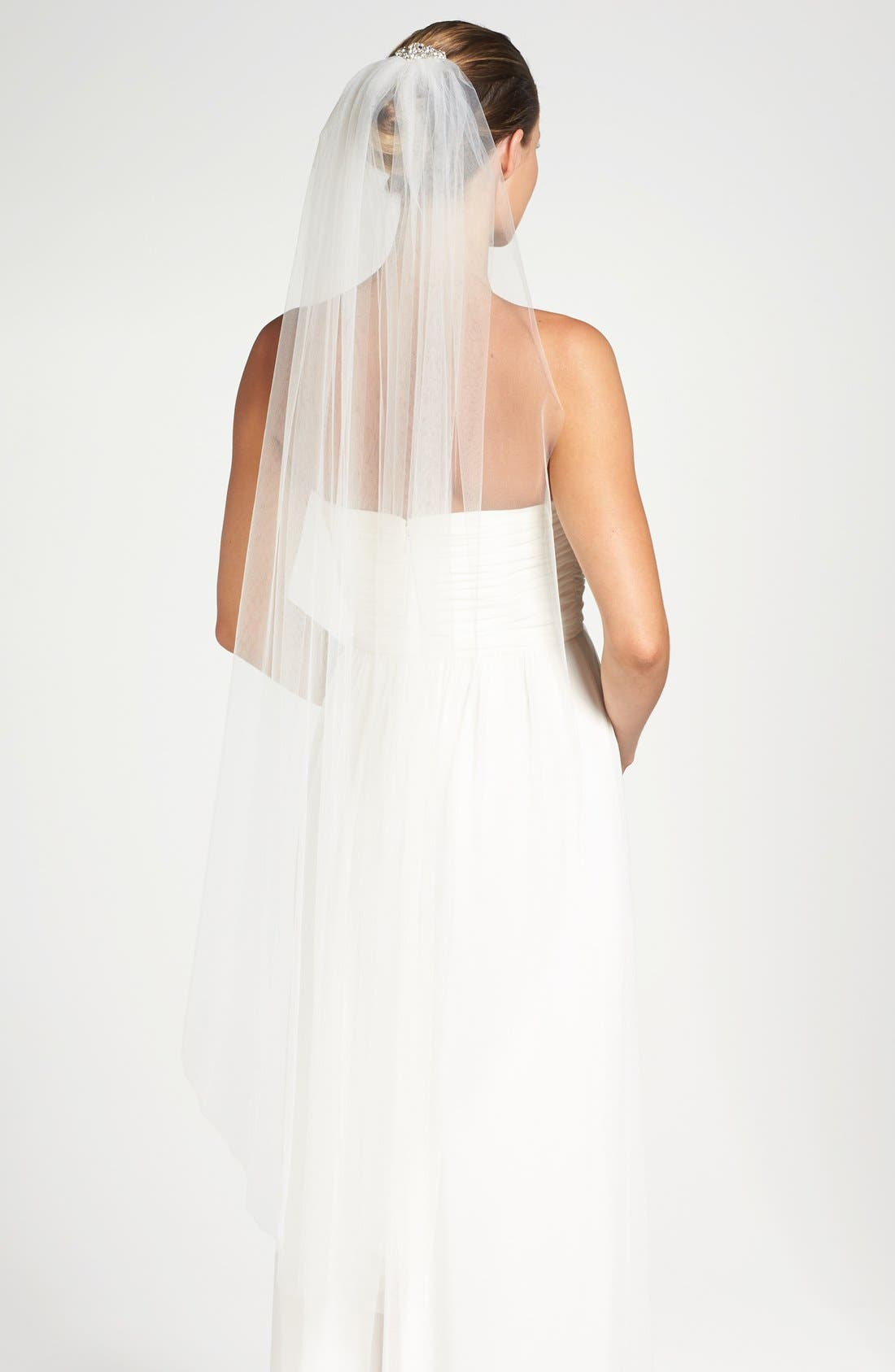 Alternate Image 1 Selected - Toni Federici 'Sugar Pie' Embellished Hair Comb with Waltz Length Veil