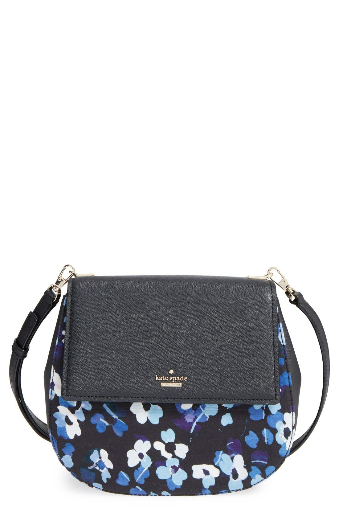 Kate Spade New York U0026#39;cameron Street - Byrdieu0026#39; Floral Print Cotton U0026 Leather Crossbody Bag ...
