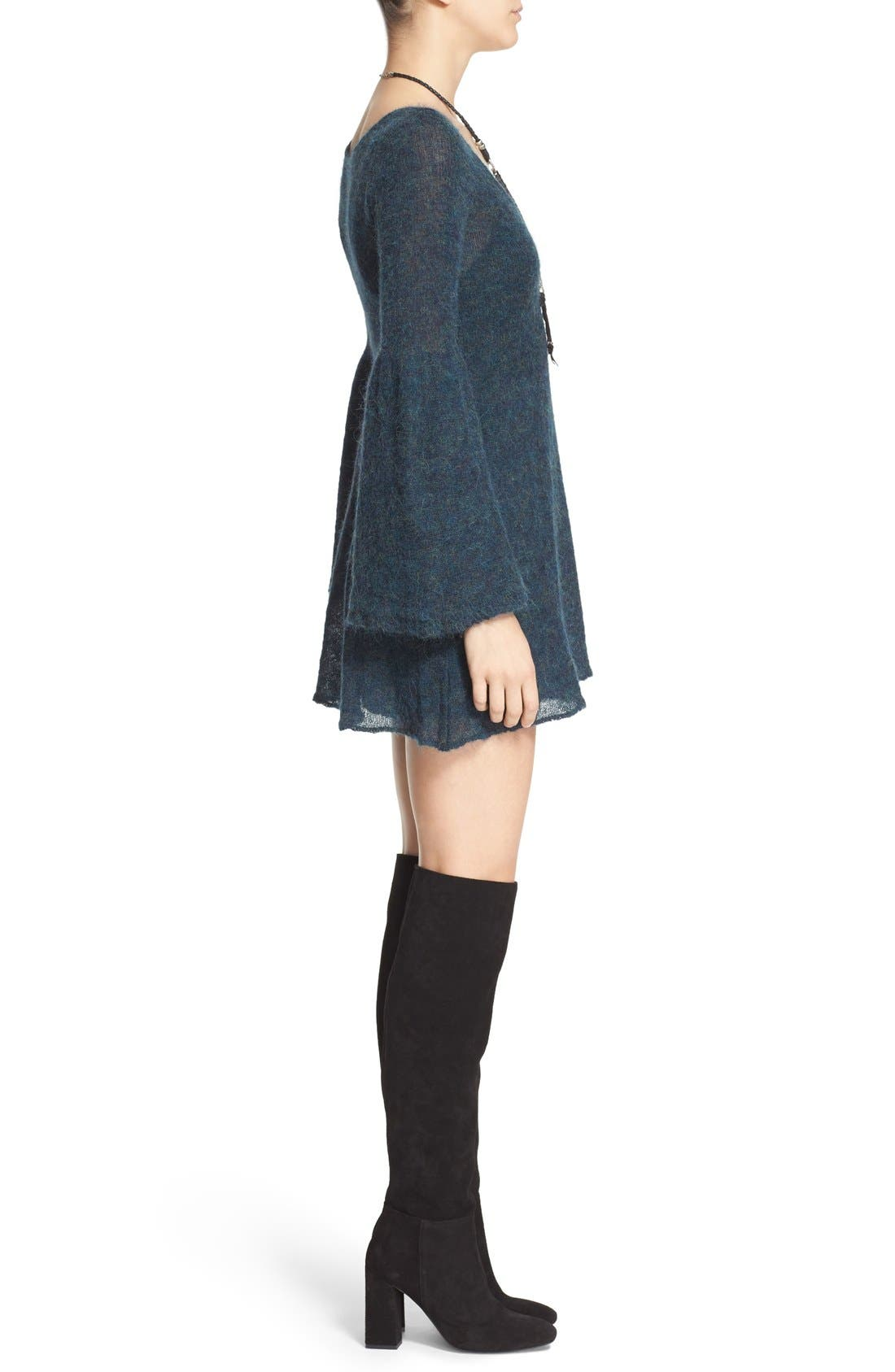 Alternate Image 3  - Free People 'Juliet' Babydoll Sweater Dress