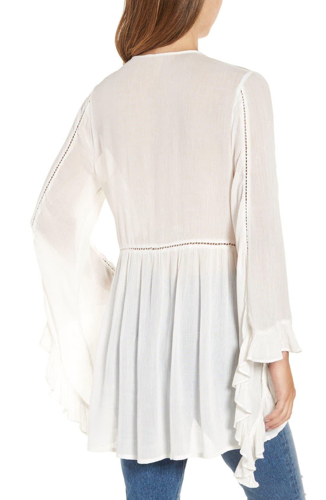 Alternate Image 2  - Glamorous Embroidered Long Sleeve Tunic