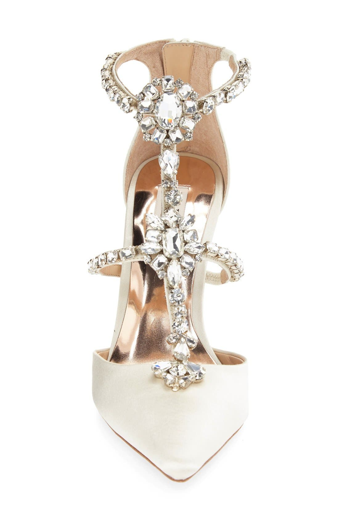 Alternate Image 3  - Badgley Mischka 'Decker' Crystal Embellished T-Strap Pump (Women)