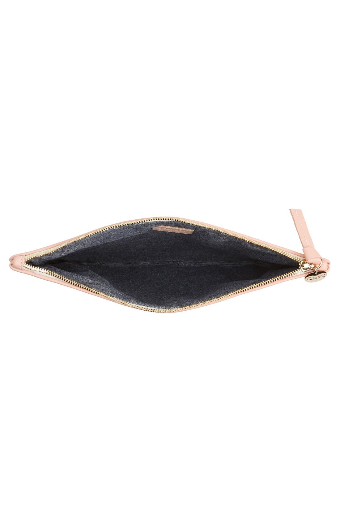 Alternate Image 3  - Clare V. 'Eyes' Printed Nappa Leather Clutch