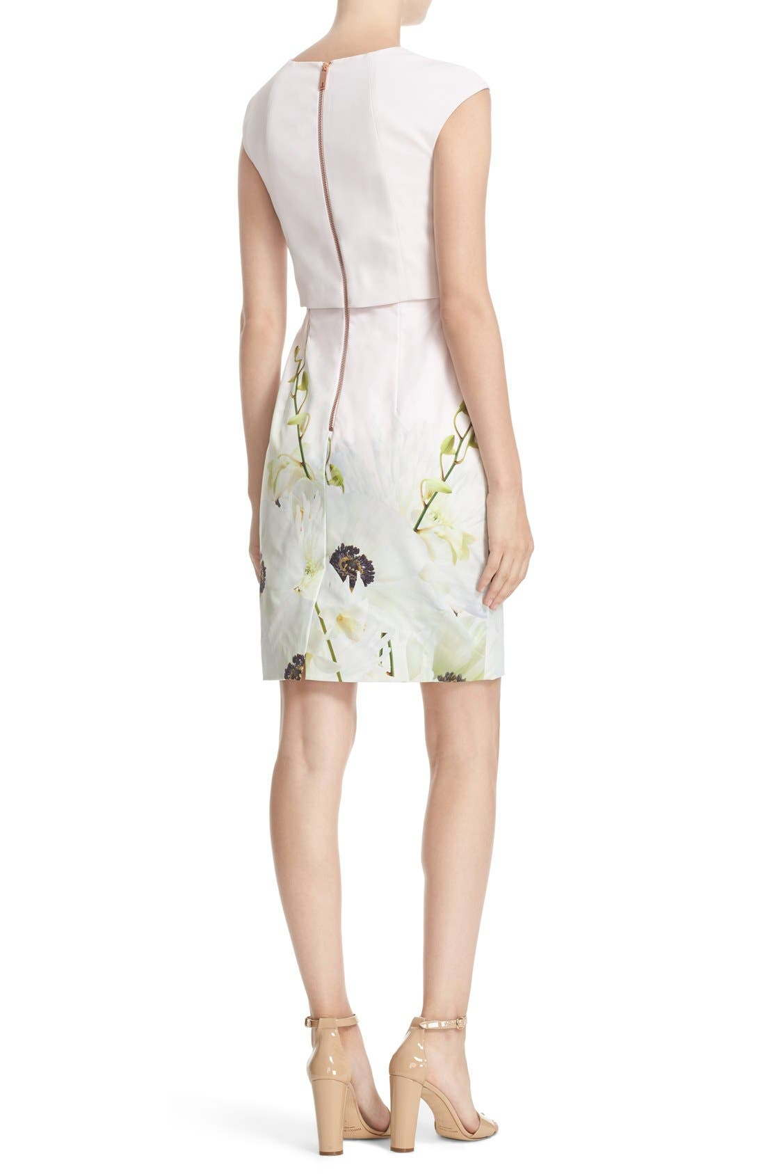 Alternate Image 2  - Ted Baker London 'Sneha - Pearly Petals' Popover Bodice Sheath Dress