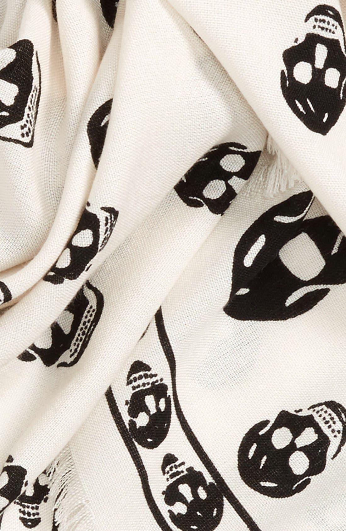 Alternate Image 3  - Alexander McQueen Skull Print Wool & Silk Scarf