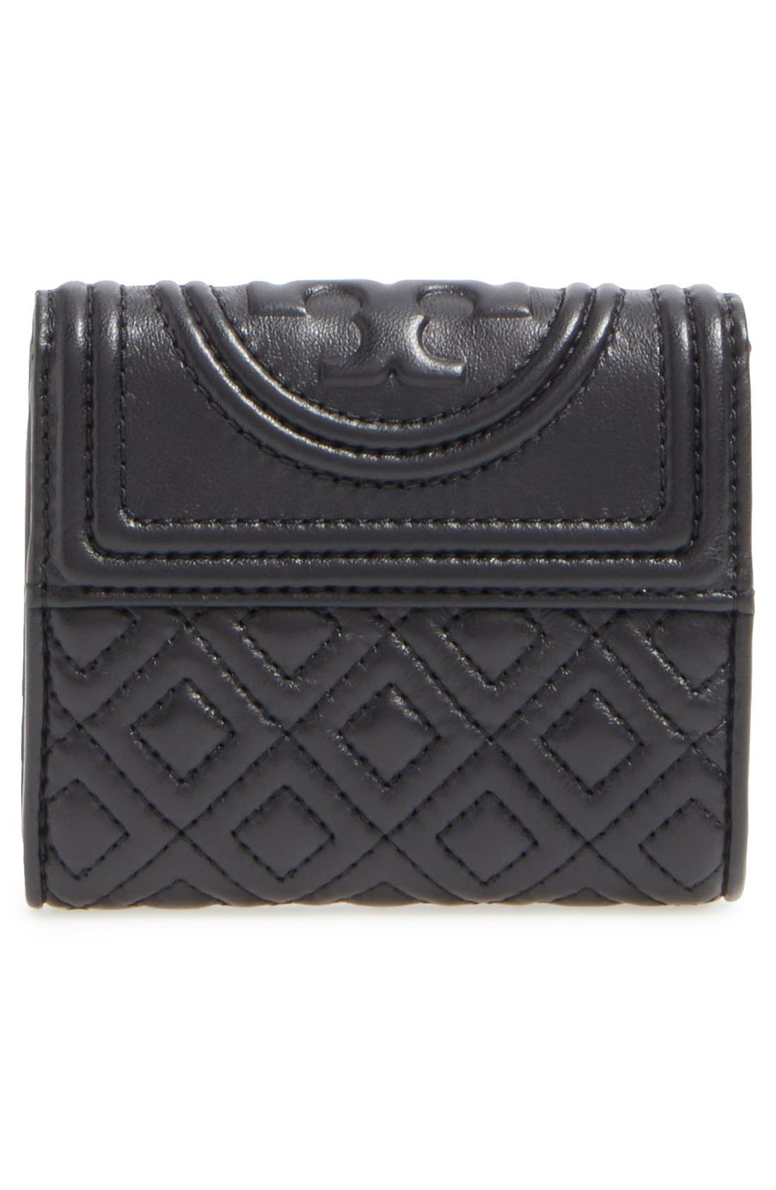 Alternate Image 4  - Tory Burch 'Mini Fleming' Quilted Lambskin Leather Wallet