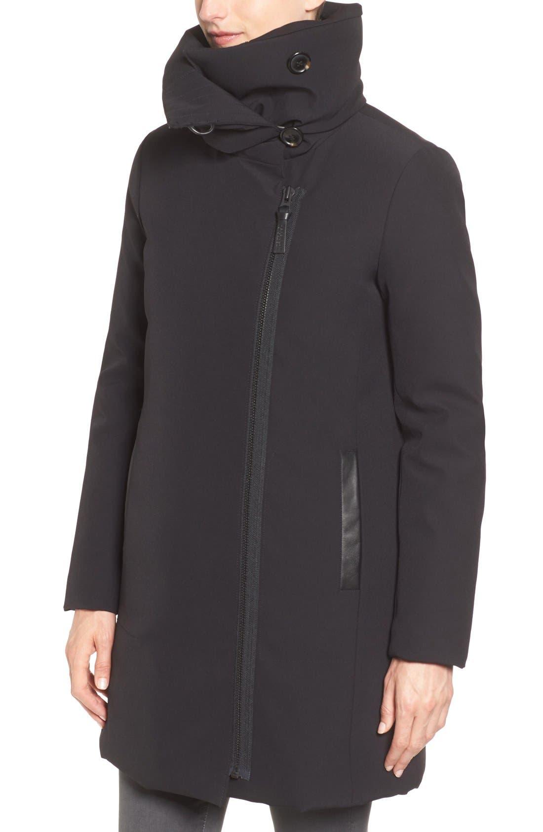 Alternate Image 4  - Derek Lam 10 Crosby Water Resistant Down Parka with Genuine Fox Fur Collar