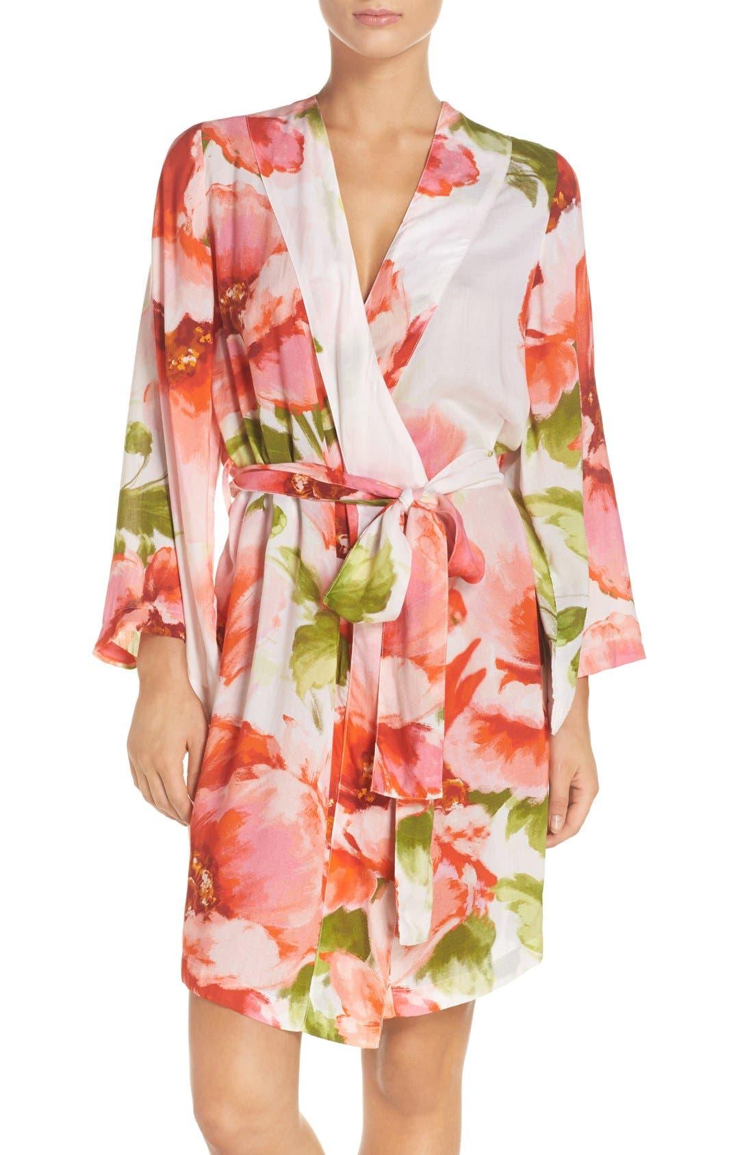 Main Image - Plum Pretty Sugar Floral Print Kimono Robe