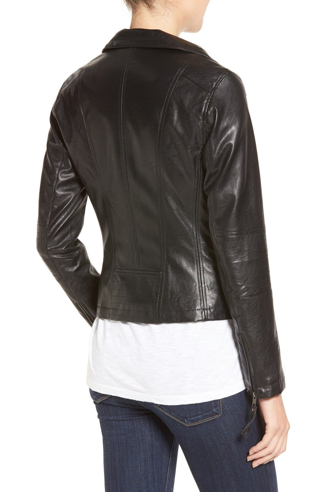 Alternate Image 2  - KUT from the Kloth 'Elena' Faux Leather Motocross Jacket
