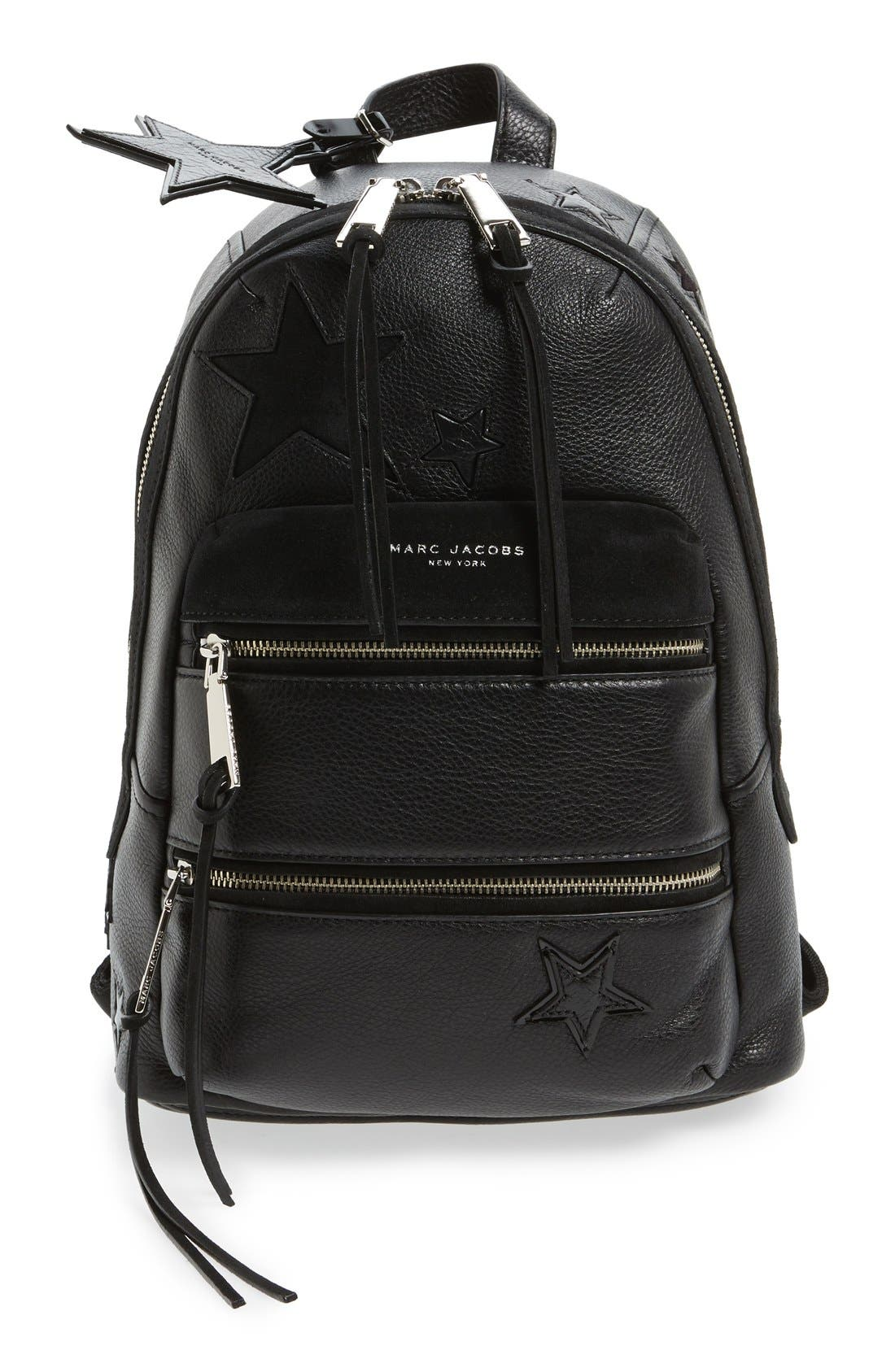 Alternate Image 1 Selected - MARC JACOBS 'Star Patchwork' Leather Backpack