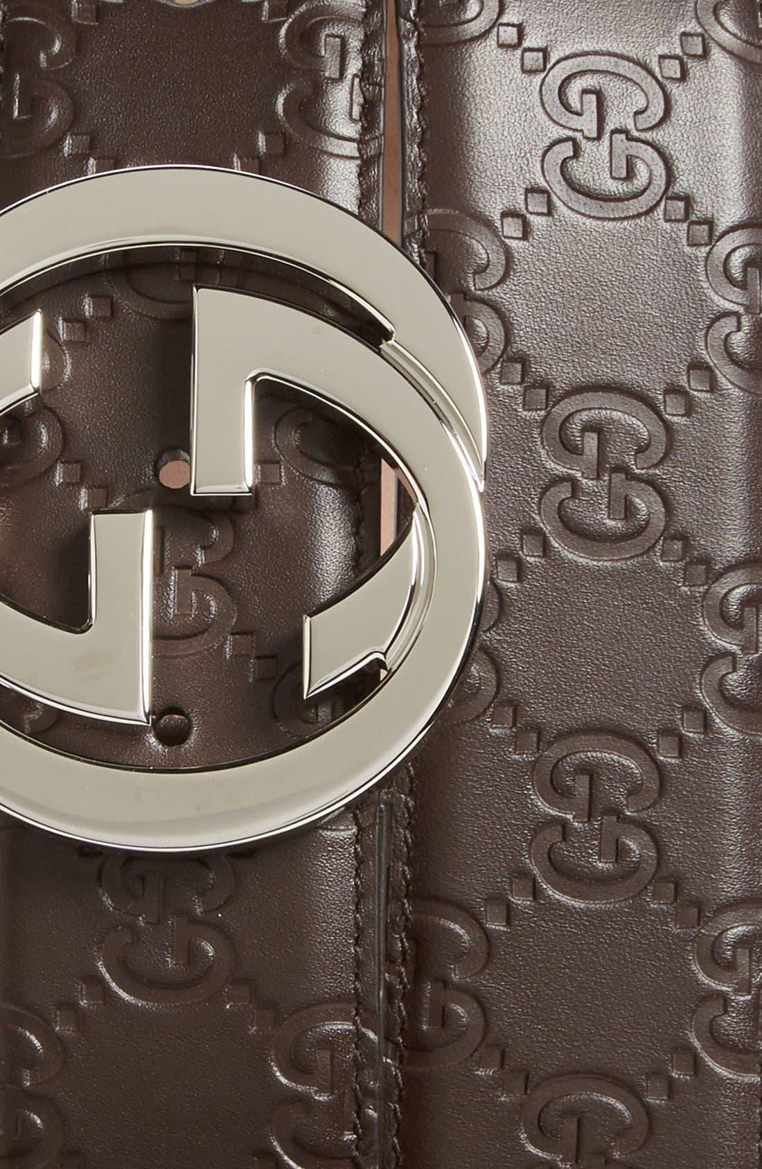 Alternate Image 2  - Gucci Logo Embossed Leather Belt