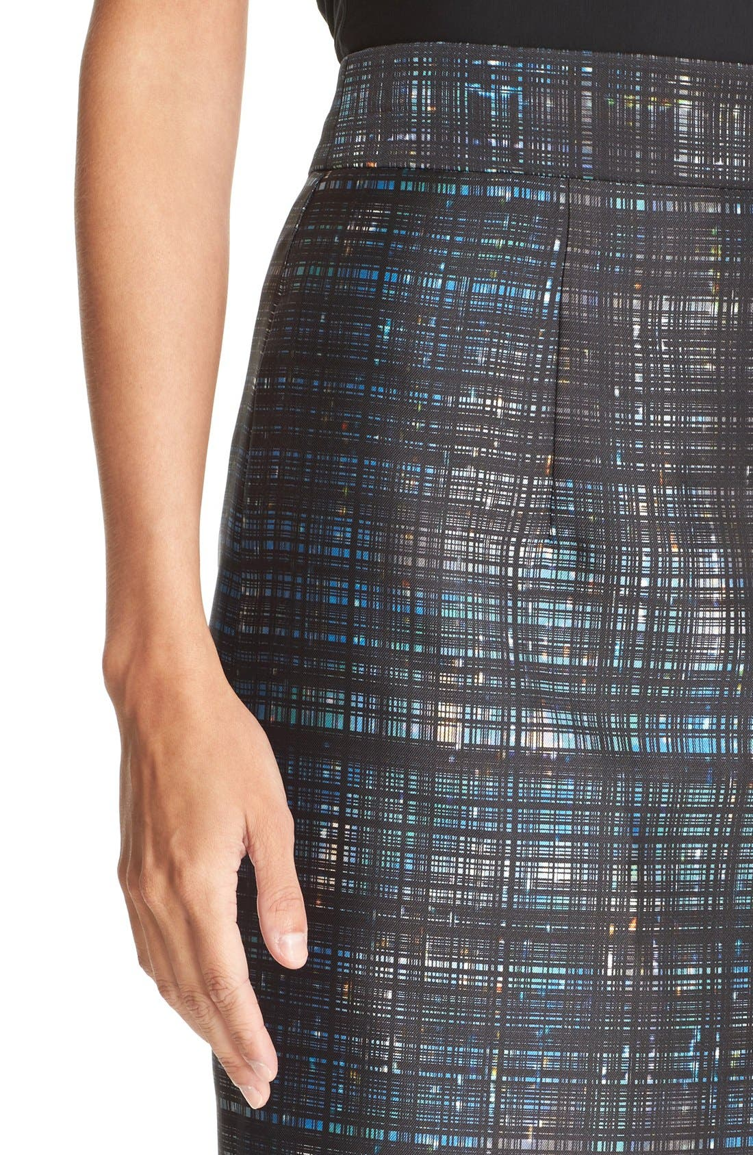 Alternate Image 4  - Milly Confetti Check Pencil Skirt