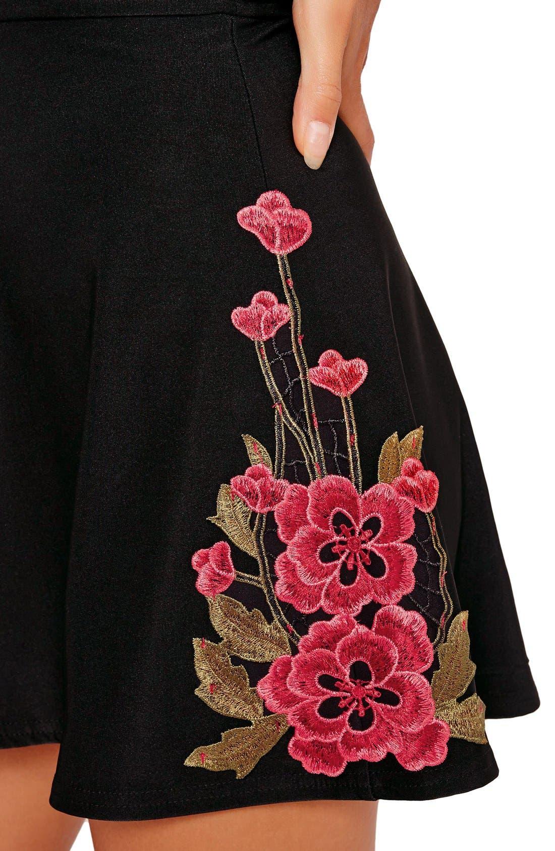 Alternate Image 3  - Missguided Embroidered V-Neck Romper