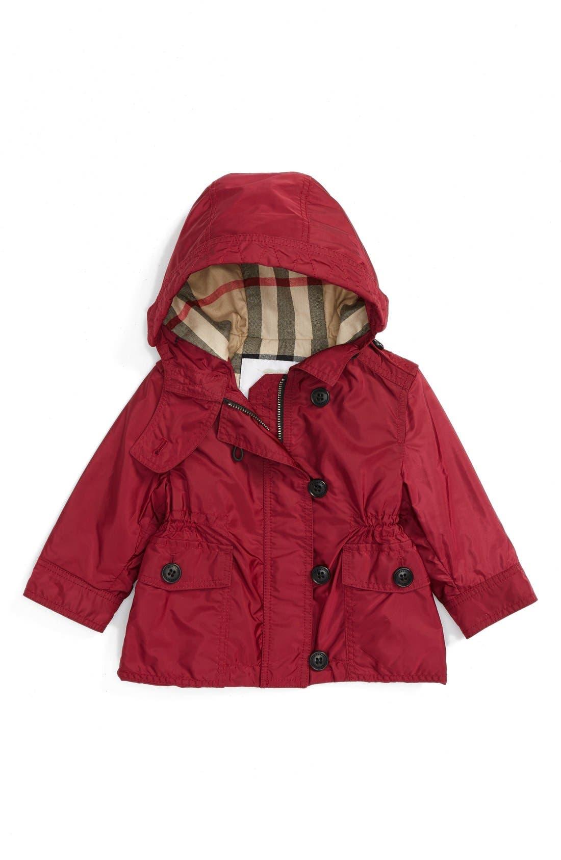 Alternate Image 1 Selected - Burberry 'Karen' Hooded Jacket (Baby Girls)