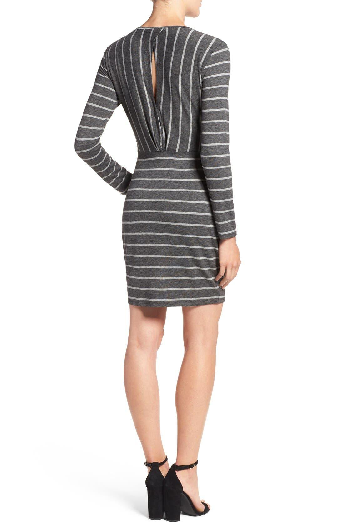 Alternate Image 2  - cupcakes and cashmere 'Malbec' Stripe Body-Con Dress