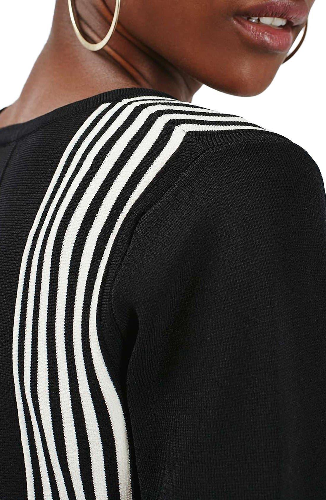 Alternate Image 6  - Topshop Stripe Detail Scalloped Knit Top