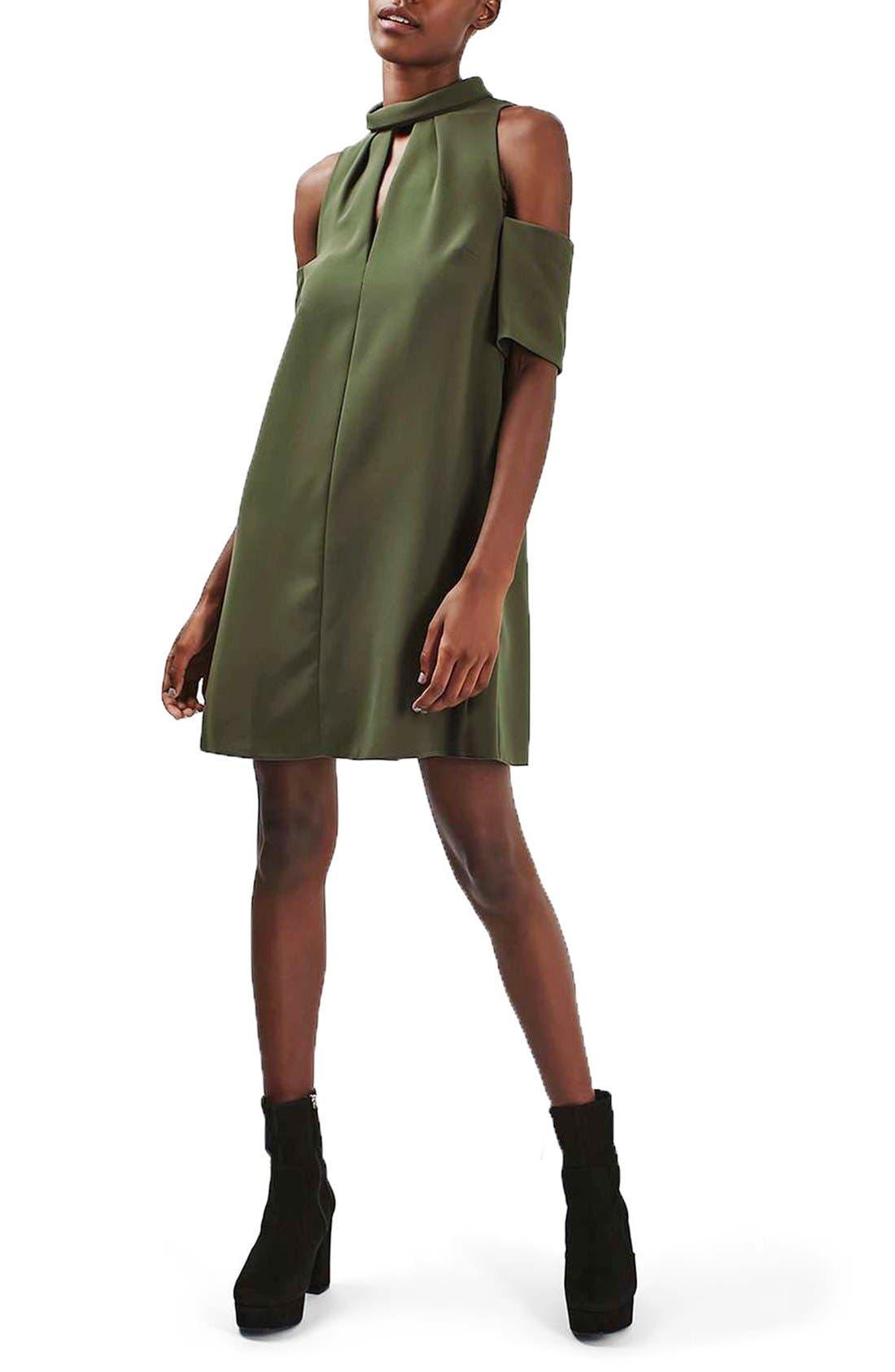 Alternate Image 2  - Topshop Cold Shoulder Keyhole Dress