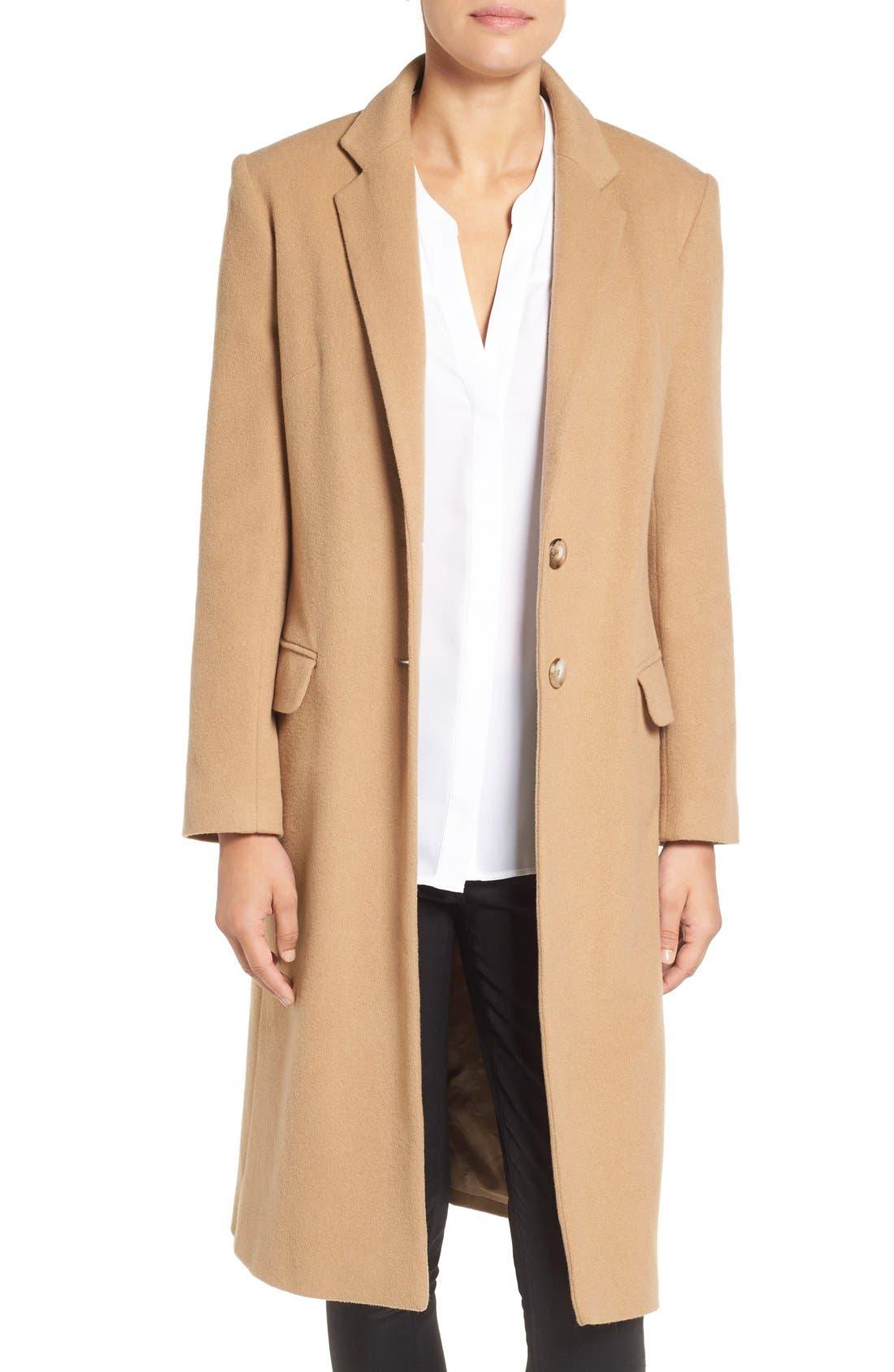 Alternate Image 1 Selected - Helene Berman Wool Blend College Coat