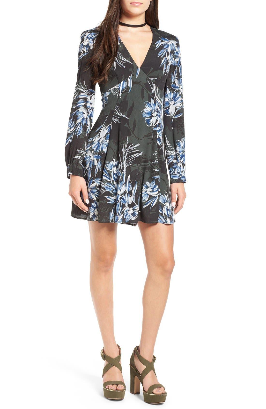 Alternate Image 1 Selected - ASTR 'Mabel' Fit & Flare Dress