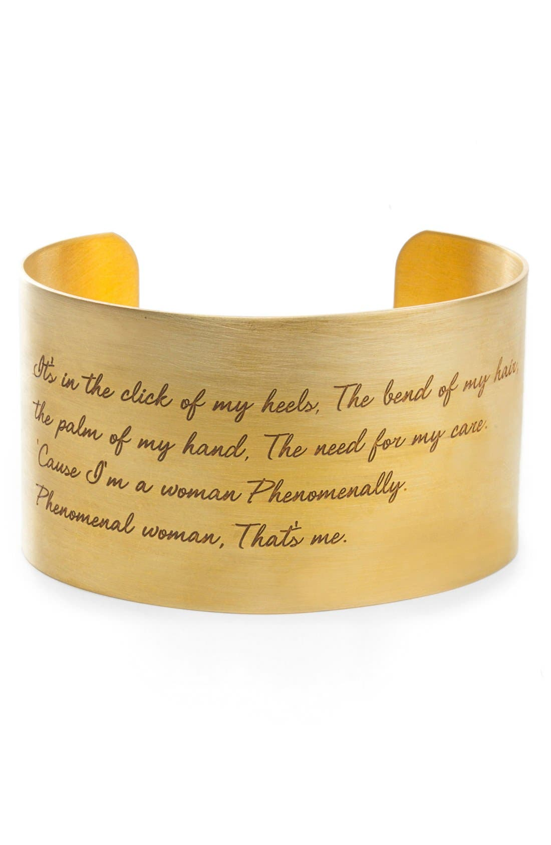Dogeared 'Legacy Collection - Phenomenal Women' Wrist Cuff