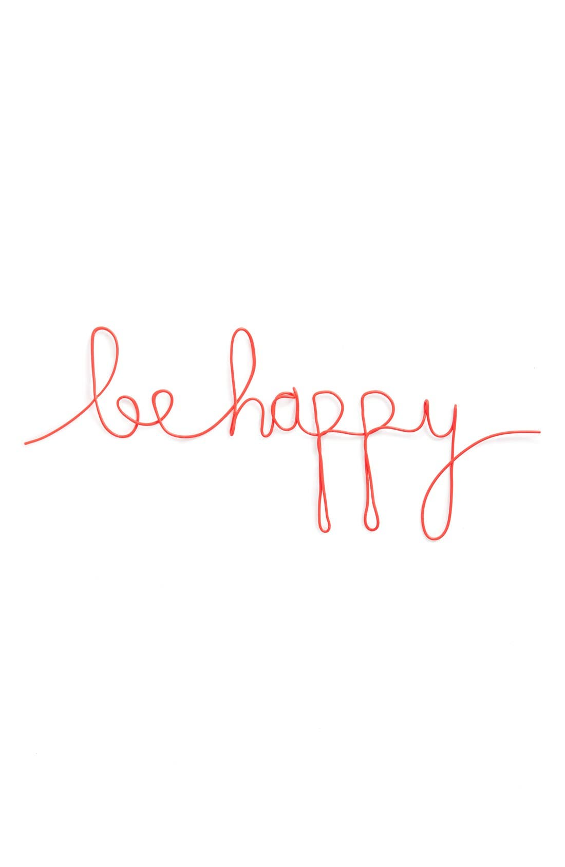 Alternate Image 1 Selected - Natural Life 'Be Happy' Wire Wall Art