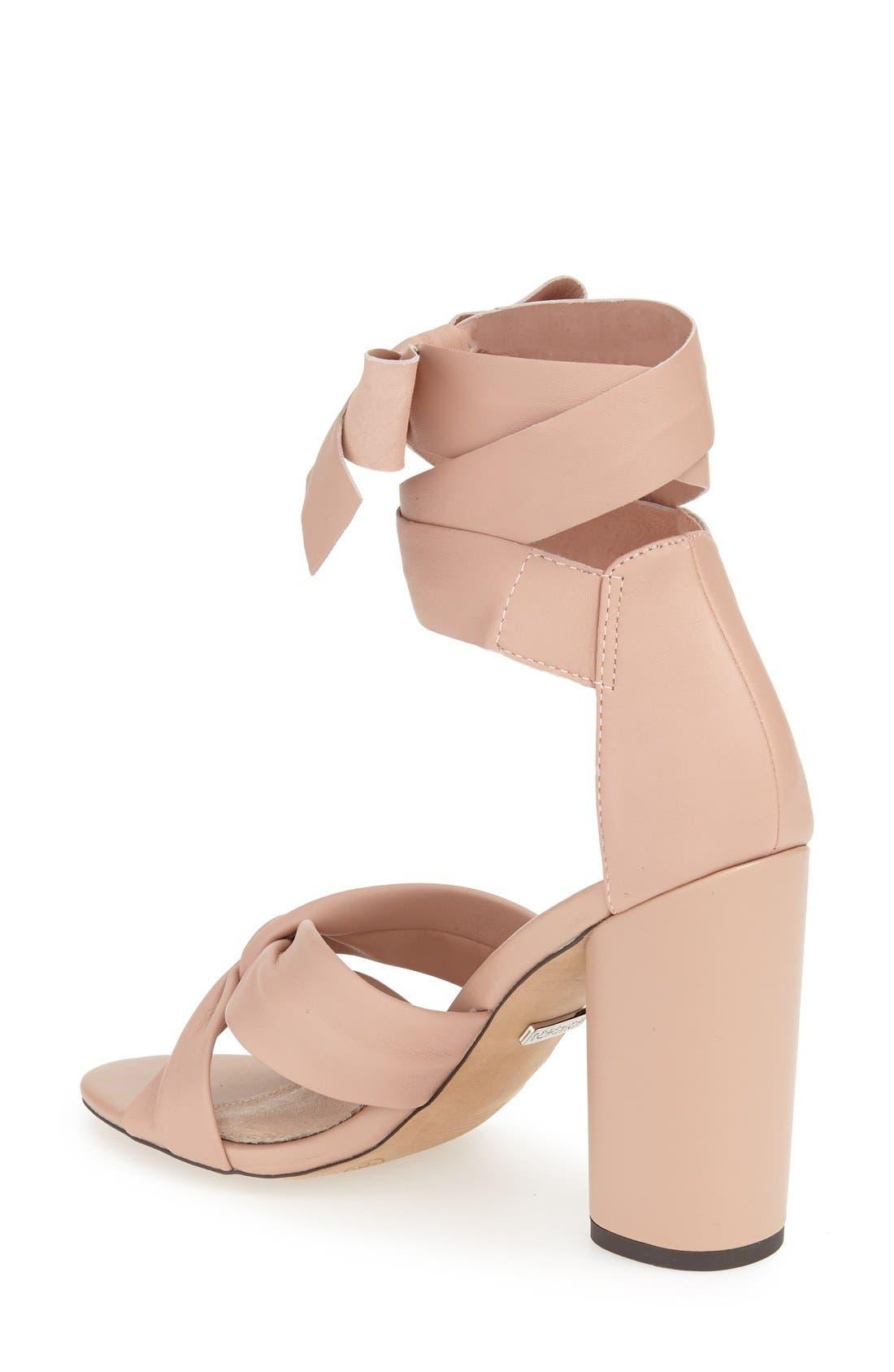 Alternate Image 2  - Topshop 'Rosetta' Soft Knot Wraparound Sandal (Women)