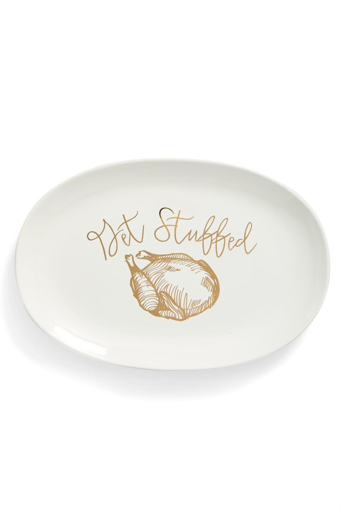 Alternate Image 1 Selected - Gibson 'Get Stuffed' Stoneware Serving Platter