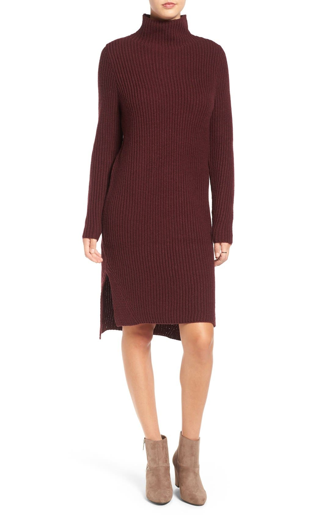 Main Image - BP. Mock Neck Knit Sweater Dress