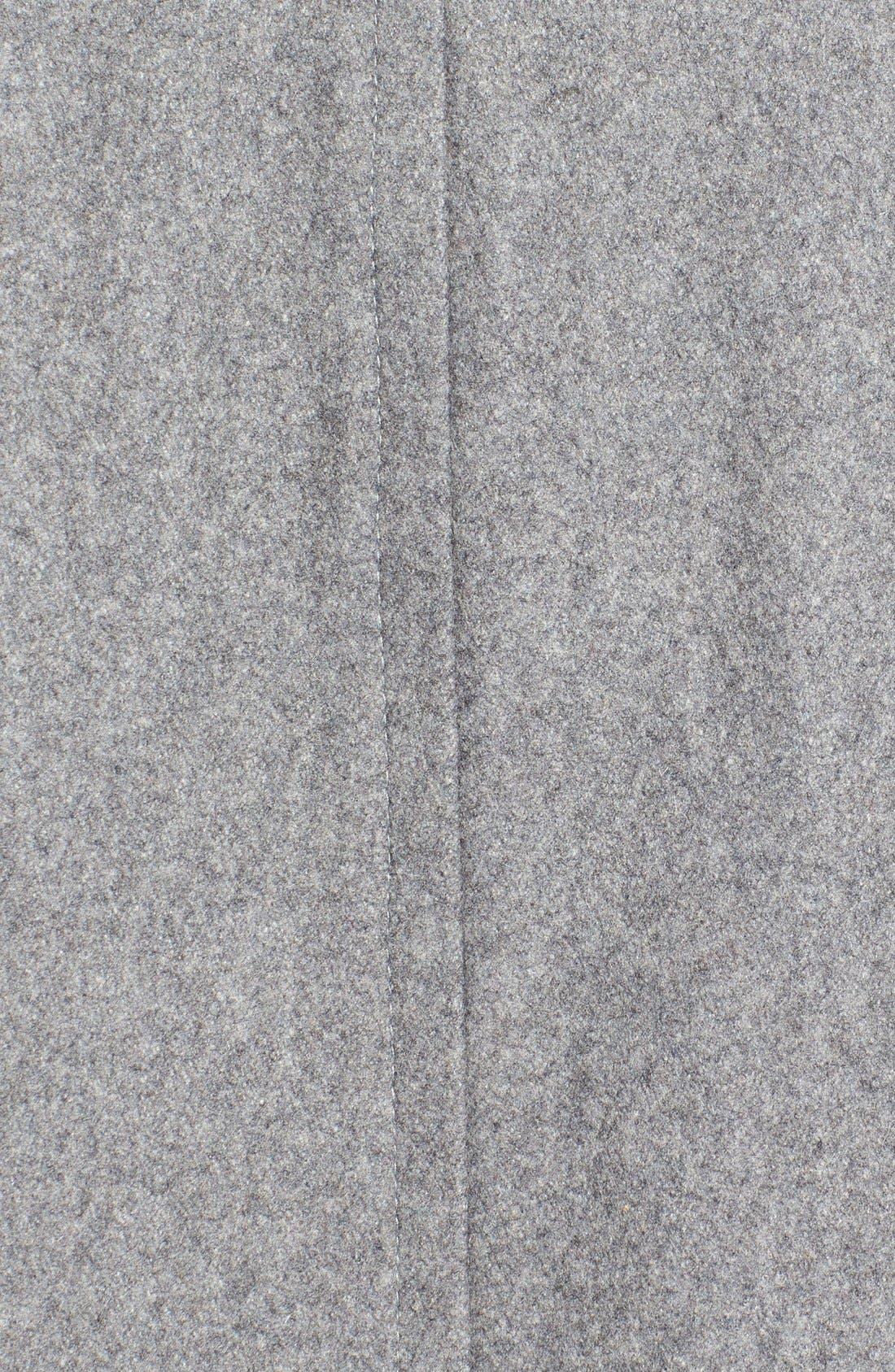 Alternate Image 5  - Larry Levine Wool Blend Swing Coat