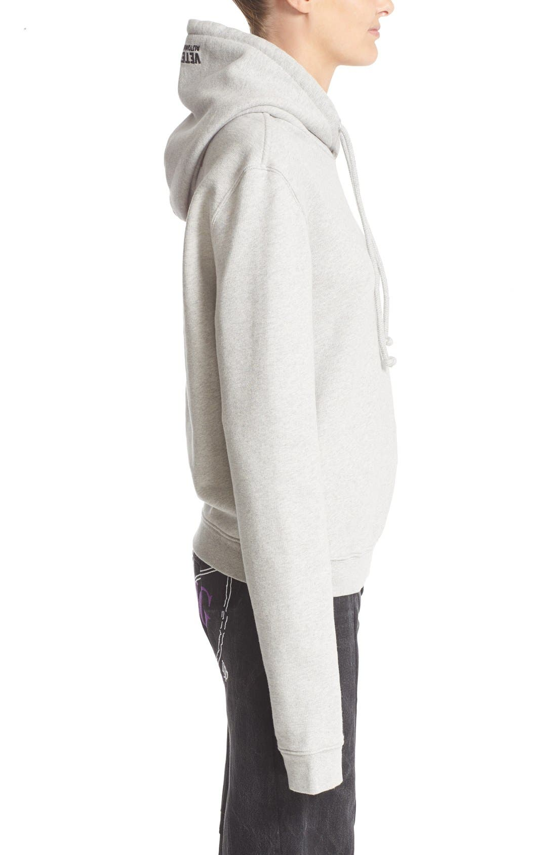 Alternate Image 5  - Vetements Fitted Pullover Hoodie