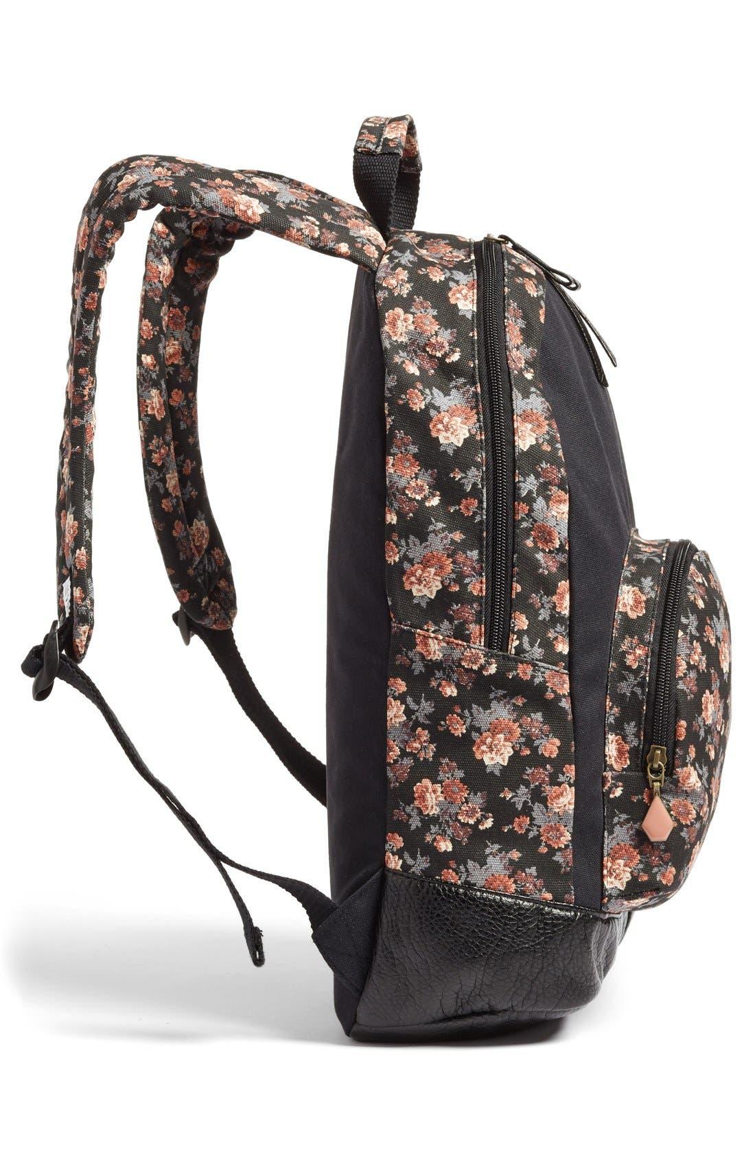 Alternate Image 3  - Volcom 'Leaf Me Alone' Floral Print Backpack