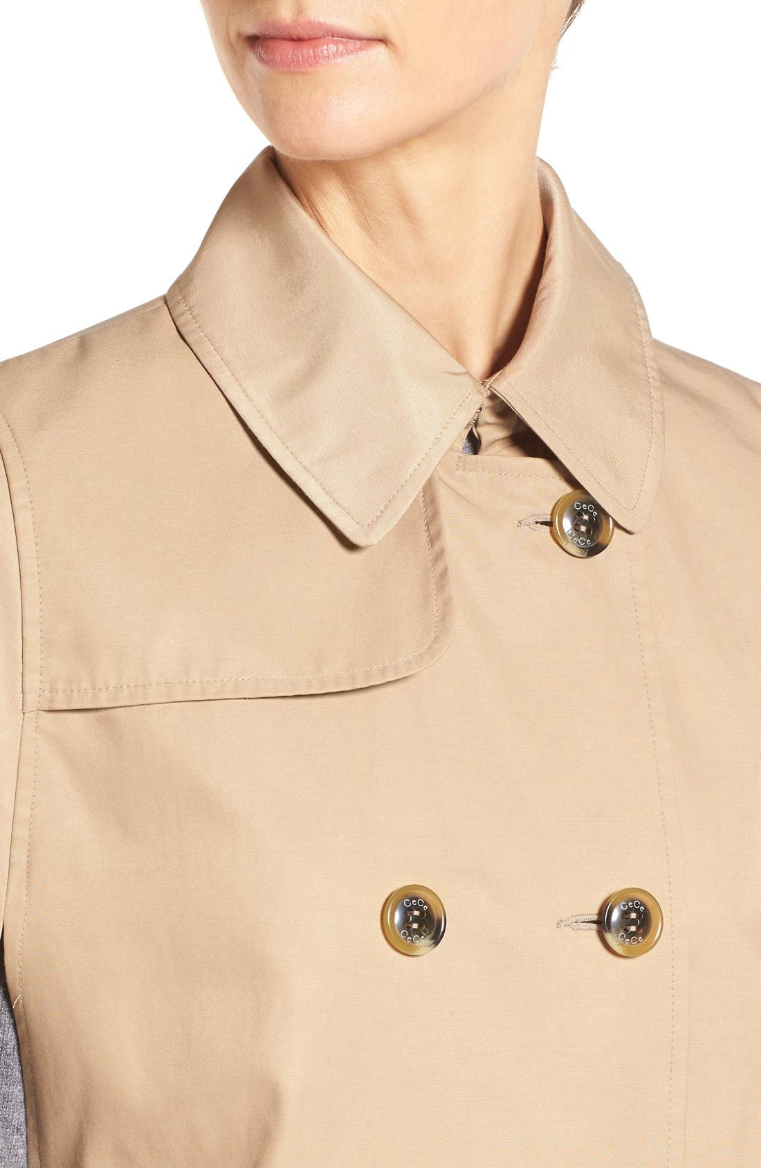 Alternate Image 4  - CeCe Lily Trench Cape
