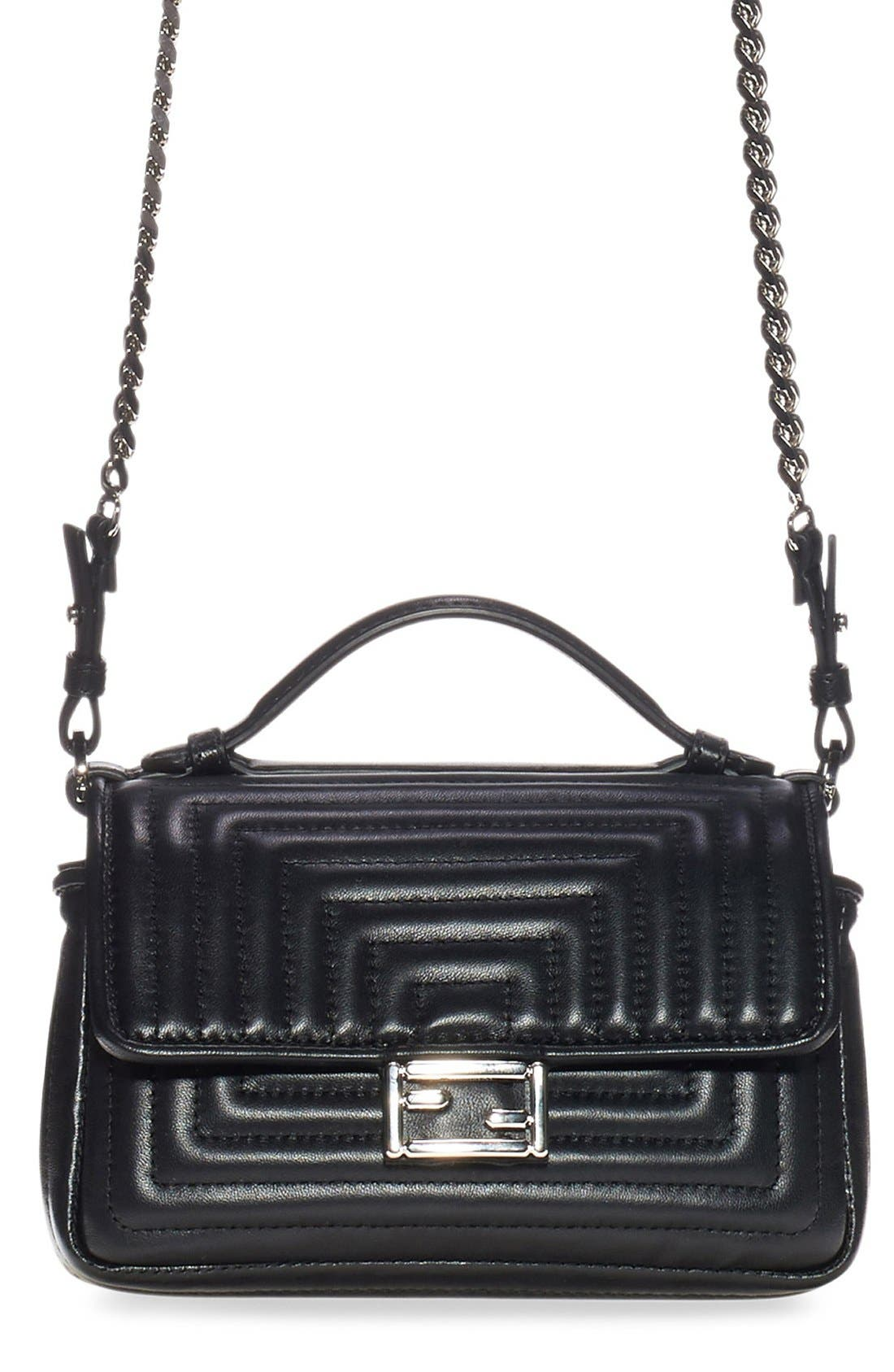 FENDI 'Double Micro' Quilted Leather Baguette