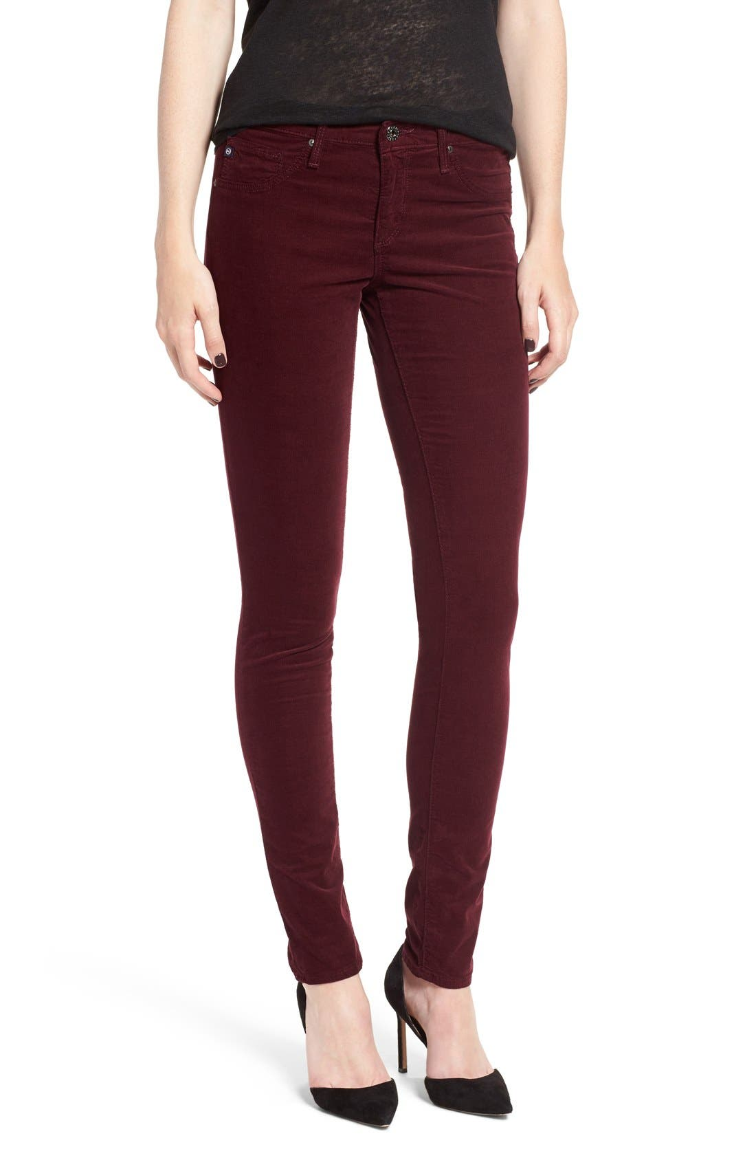 Alternate Image 1 Selected - AG Jeans Stretch Corduroy Pants