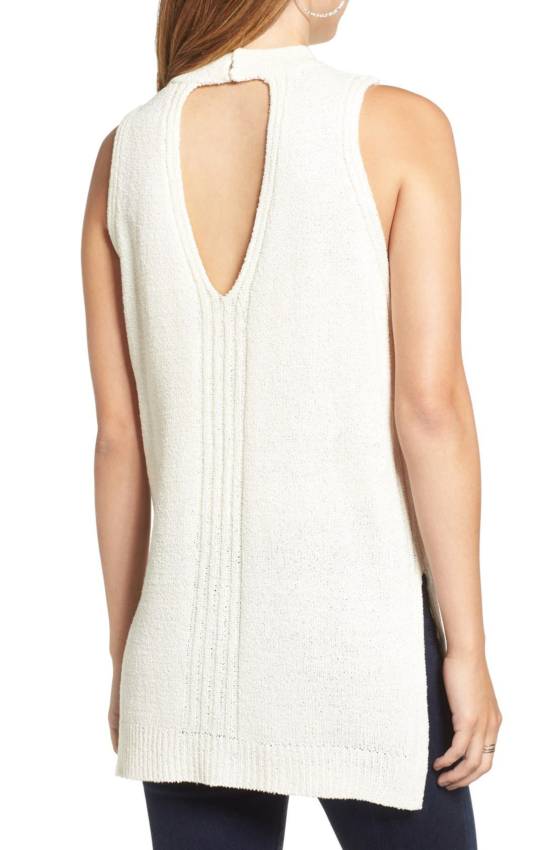 Alternate Image 2  - ASTR Choker Detail Sleeveless Sweater