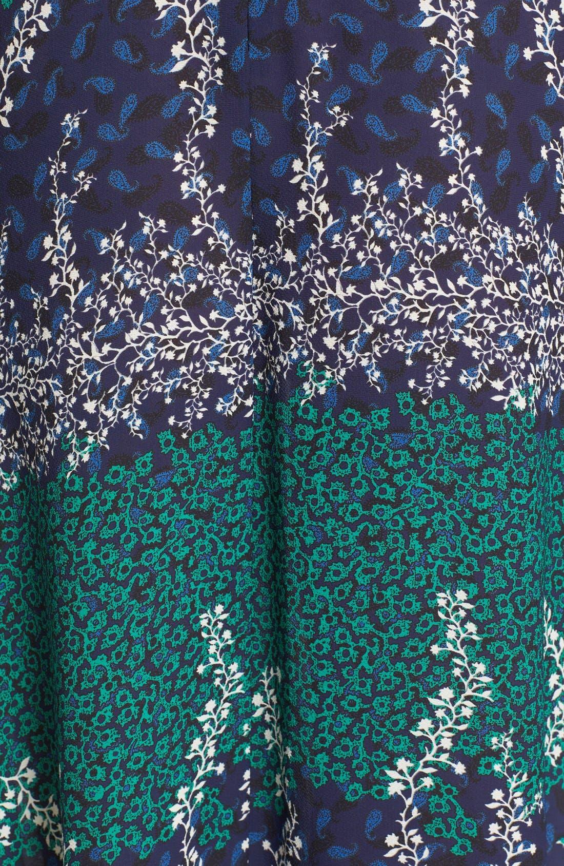 Alternate Image 3  - Yigal Azrouël Lace Trim Ivy & Paisley Print Maxi Dress