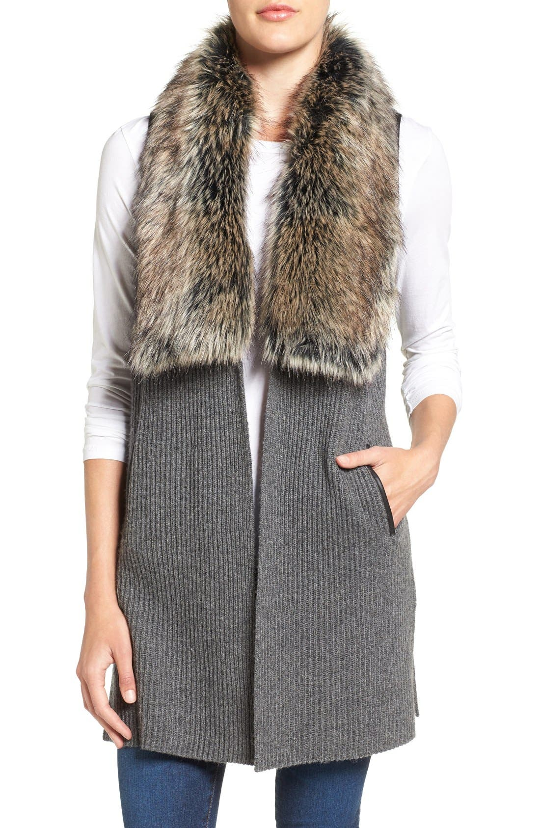 Faux Fur Trim Collar This vest has all the features you've come to love The Plus Project Women's Plus Size Quilted Puffer Vest with Hood and Removable Faux Fur Trim. by The Plus Project. $ $ 49 95 Prime. Exclusively for Prime Members. Some sizes/colors are Prime eligible.
