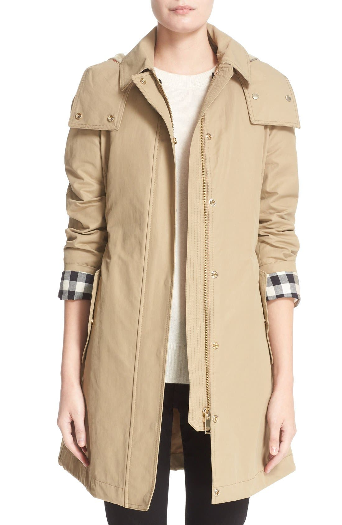 Burberry Hartlington Hooded Cotton Blend Parka