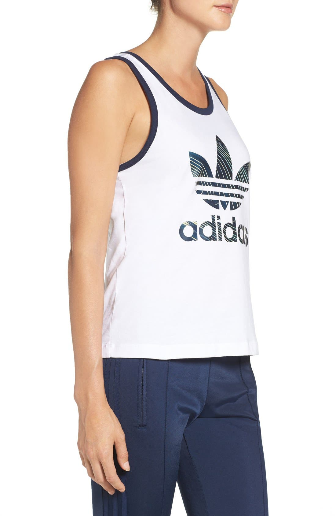 Alternate Image 3  - adidas Originals Trefoil Jersey Tank