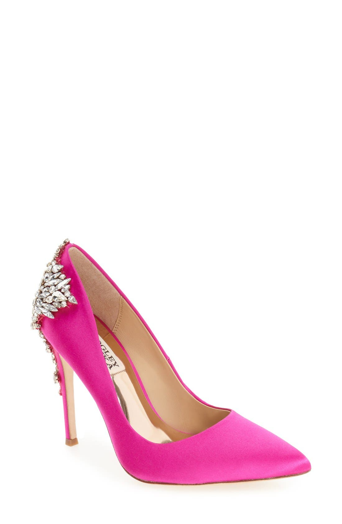 BADGLEY MISCHKA 'Gorgeous' Crystal Embellished Pointy Toe Pump