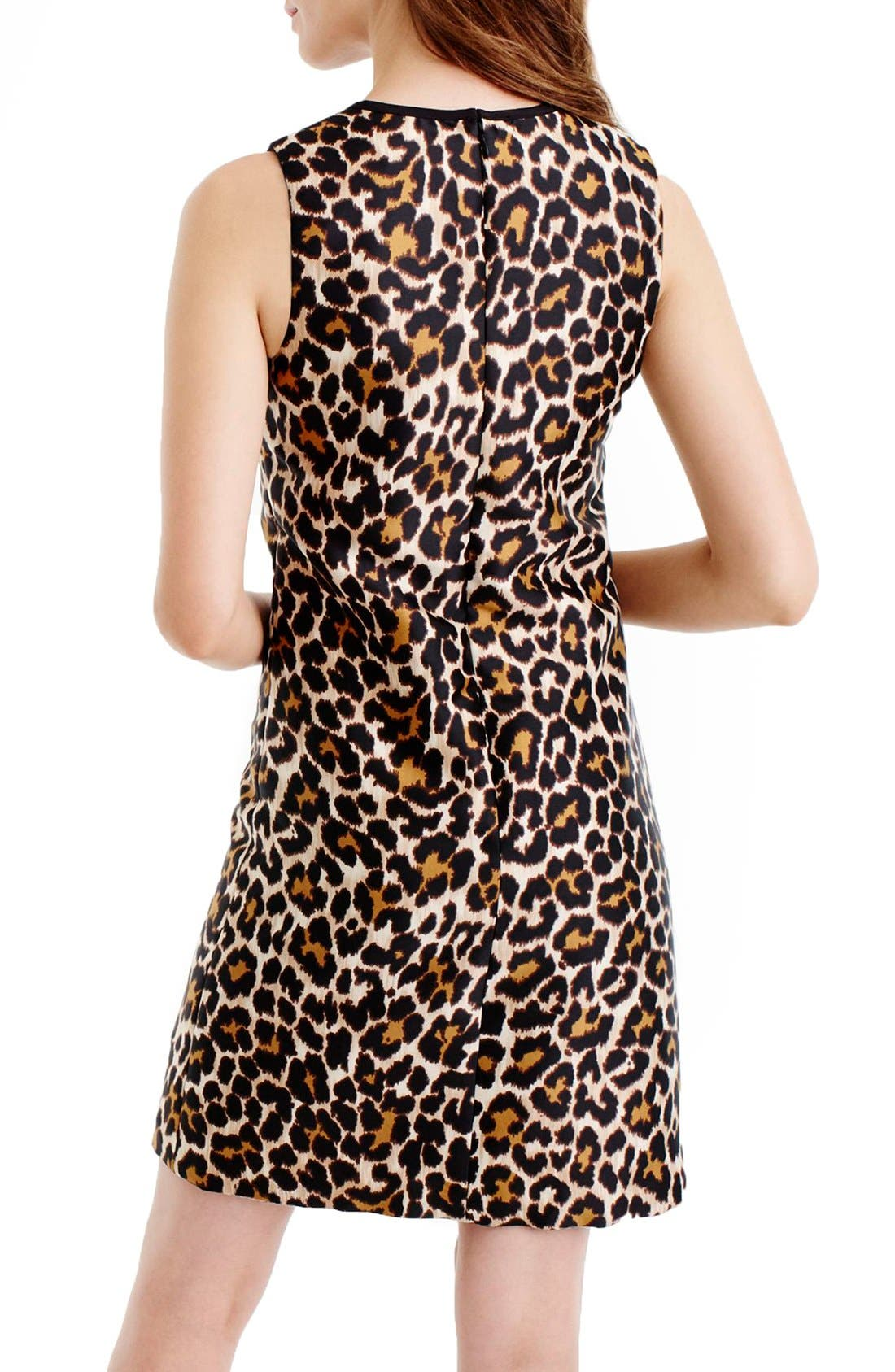 Alternate Image 3  - J.Crew Leopard Print Shift Dress (Regular & Petite)