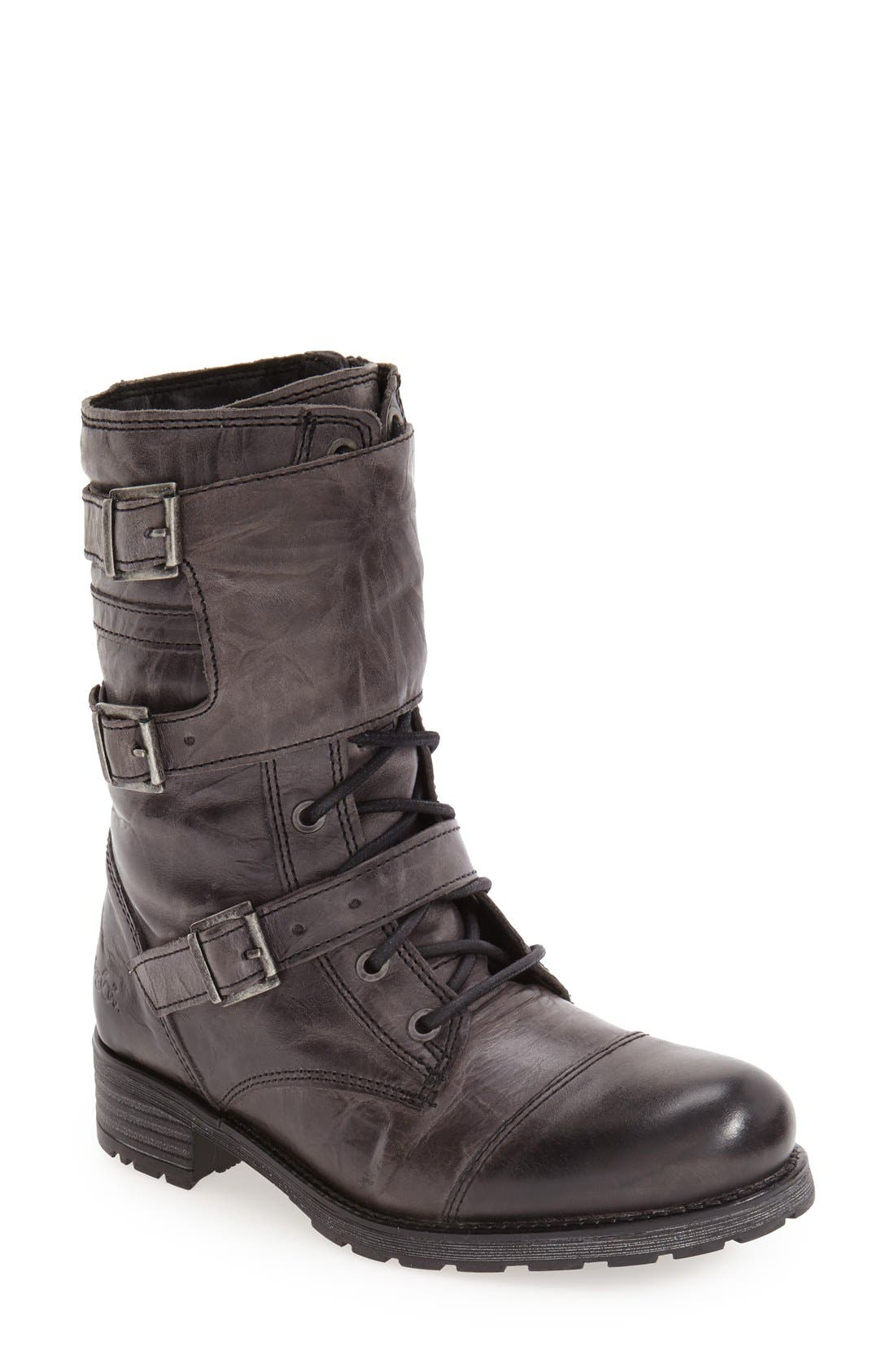 Bos. & Co. 'Irena' Waterproof Moto Boot (Women)