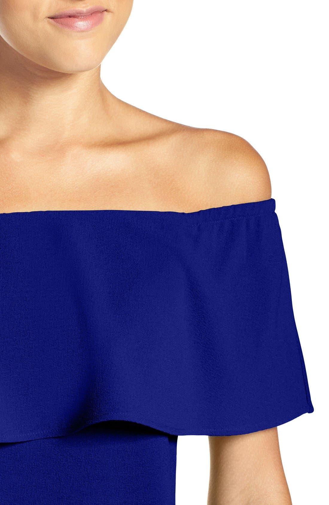 Alternate Image 4  - Charles Henry Off the Shoulder Dress (Regular & Petite)