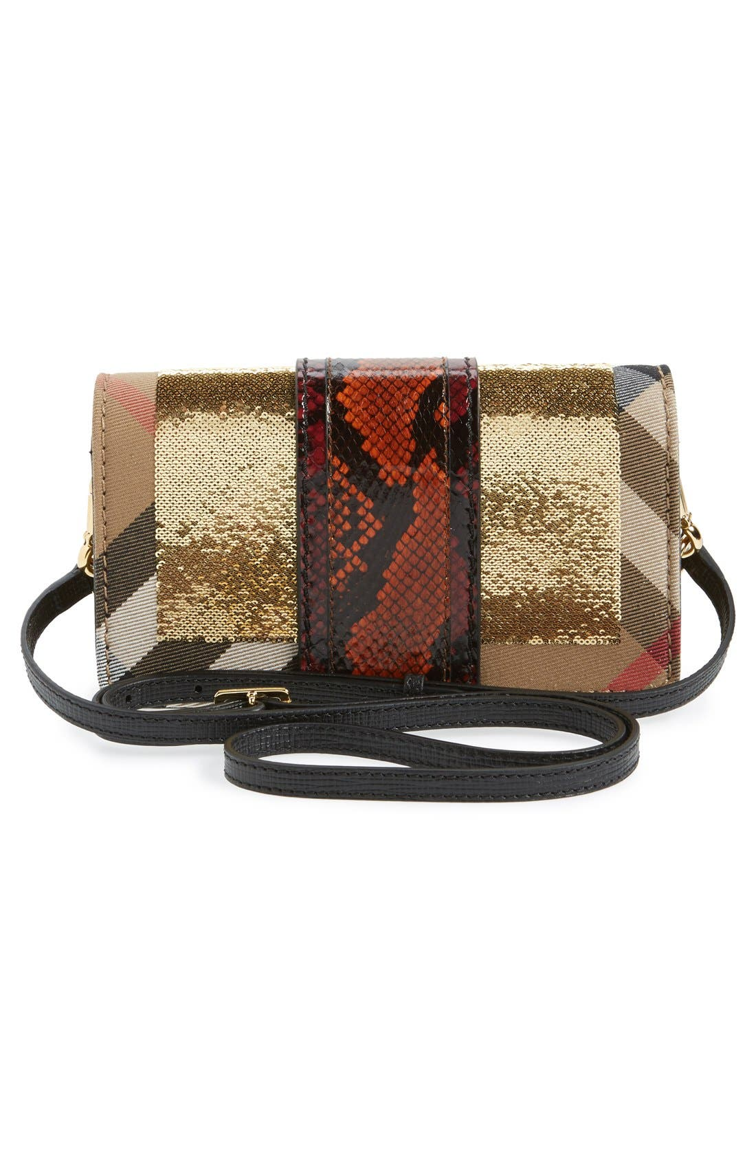 Alternate Image 3  - Burberry 'Belt Bag' Mixed Finish Convertible Clutch with Genuine Snakeskin Trim