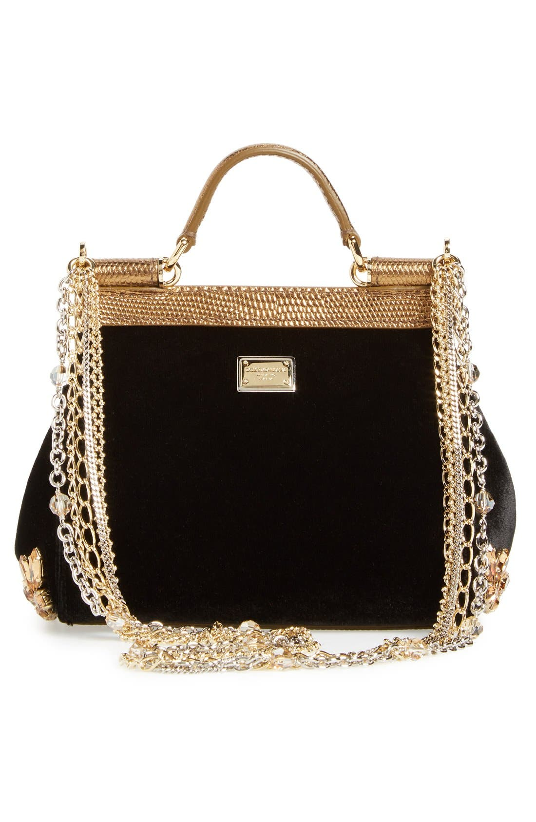 Alternate Image 3  - Dolce&Gabbana 'Mini Sicily' Velvet Shoulder Bag