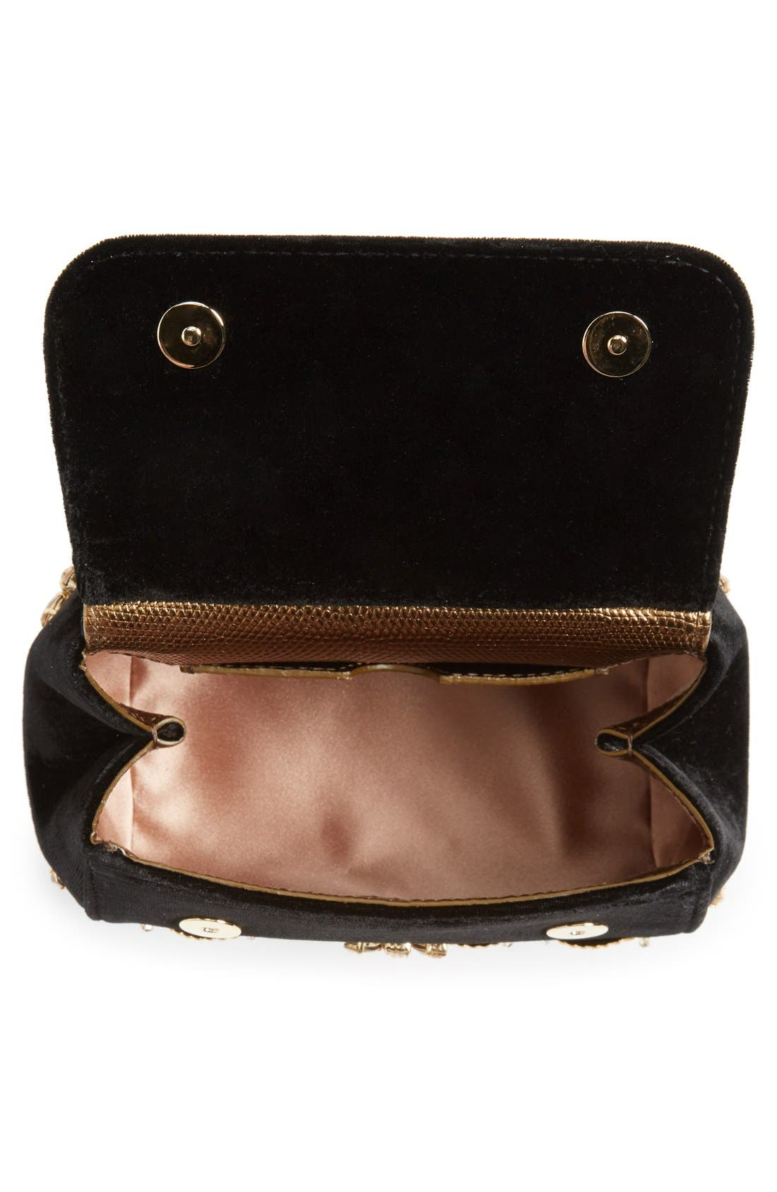 Alternate Image 4  - Dolce&Gabbana 'Mini Sicily' Velvet Shoulder Bag