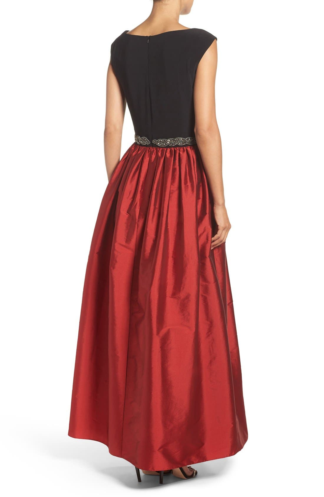 Alternate Image 2  - Alex Evenings Beaded Woven Fit & Flare Gown