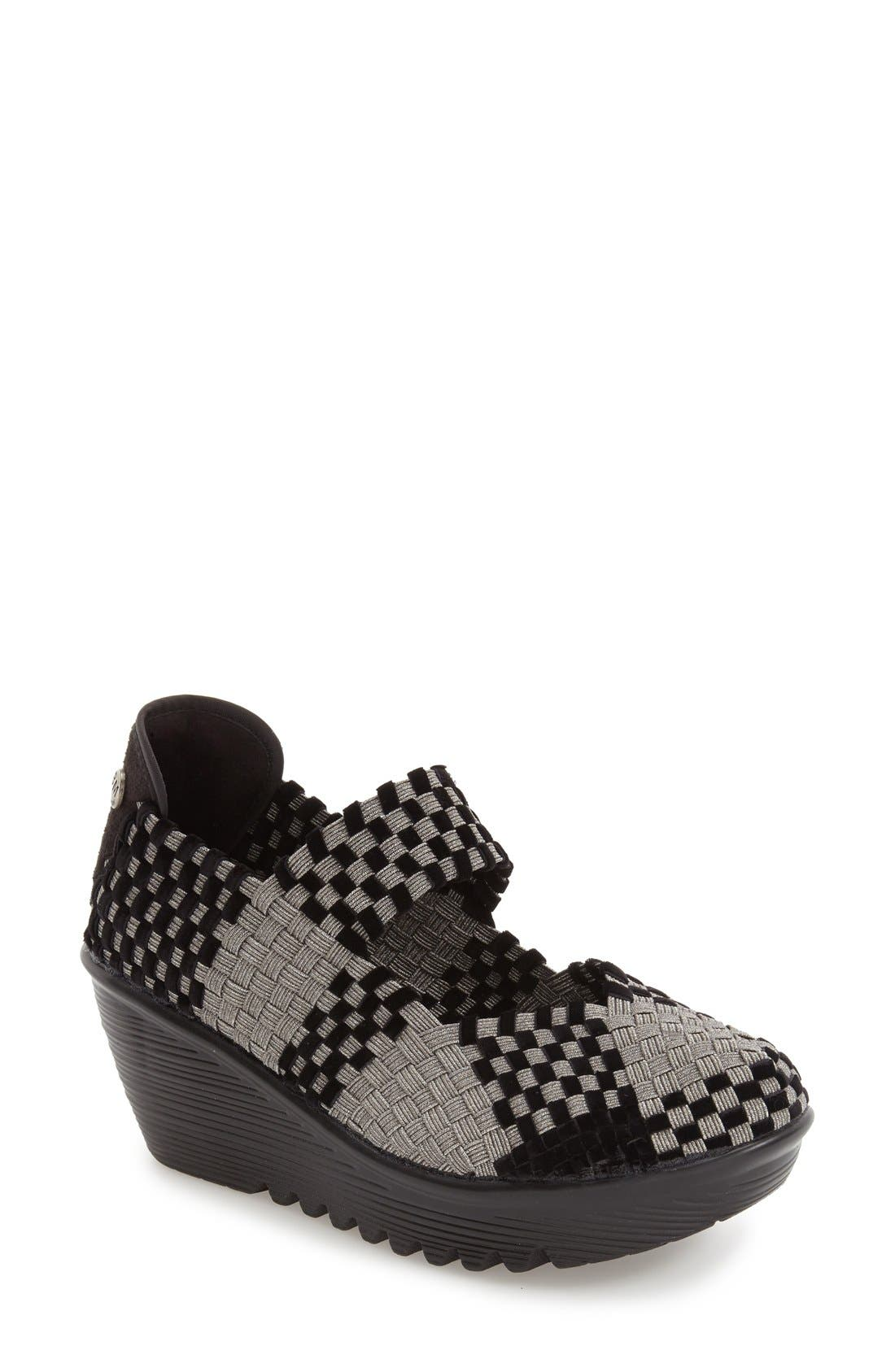 BERNIE MEV. Lulia Woven Mary Jane Platform Wedge