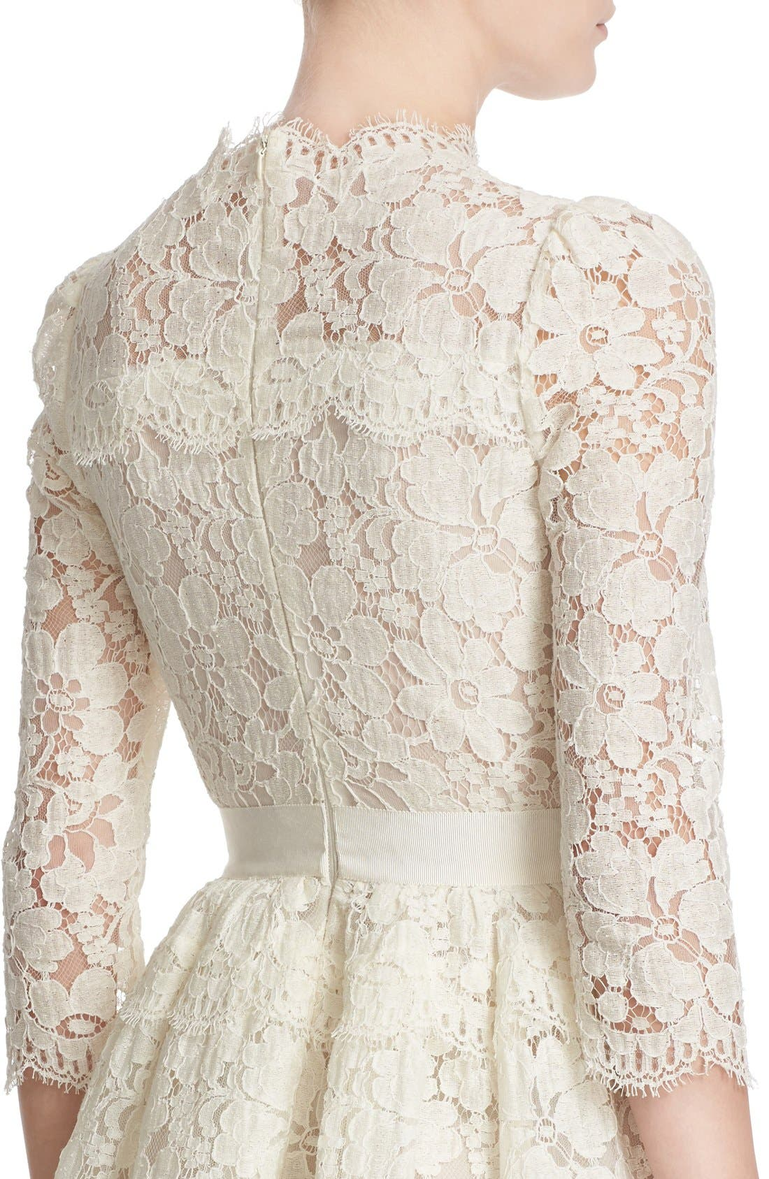 Alternate Image 5  - Alexander McQueen Floral Lace Dress